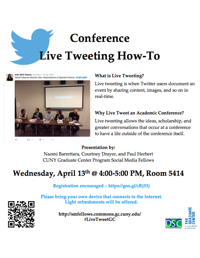 PSMF Live Tweeting Flyer